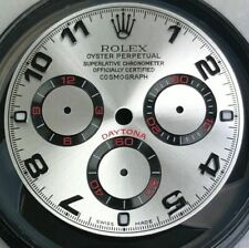 CUSTOM MADE ROLEX DAYTONA DIAL WITH ARABIC NUMERALS STEEL WITH BLACK TRACKING