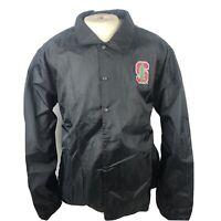 "Gen 2 NCAA Stanford Cardinal Black Button Front Windbreaker Size 2XL NWT ""M"""