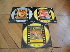 Trilogie Indiana Jones Laserdisc LD VF PAL Ford Philips, Connery