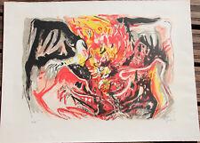 Lithographie Edouard Pignon ( Picasso ) signée EA combat de coq Mourlot 1969