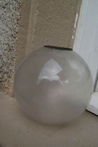 ancien Globe de lampe a pétrole en verre .XIX