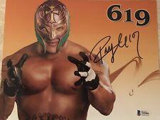 WWE Rey Mysterio Jr Autographed 8x10 Photo Signed  Beckett COA