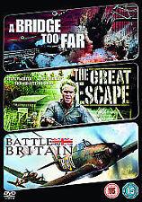 A Bridge Too Far/The Great Escape/Battle Of Britain (DVD, 2009, 3-Disc Set, Box