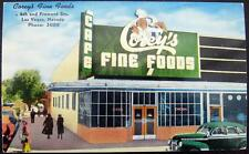 LAS VEGAS Nevada ~ 1960's COREY'S FINE FOODS ~ CAFE ~ 4th and Fremont Streets