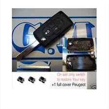 Chiave COVER scocca GUSCIO TELECOMANDO PEUGEOT 1007 4007 807 4 TASTI +3 switch