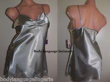 5x Silver short nightgown SATIN CHEMISE/SLIP LINGERIE (4077 plus size 5x