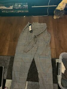 Ladies Dogtooth Trousers Size 8