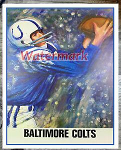 NFL Vintage Baltimore Colts REPRINT Poster Color 16 X 20 Photo Picture