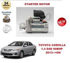 FOR TOYOTA COROLLA 1.4 D4D 99BHP 2013-- ON DENSO ORIGINAL STARTER MOTOR OE