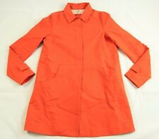 BNWT Lacoste Solid Orange Flexible Cotton Trench Coat Jacket sz 8 BF9458