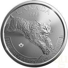 CANADA 5 Dollars Argent 1 Once Prédateur Lynx 2017 - 1 Oz silver coin Predator