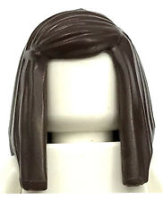 LEGO NEW DARK BROWN LONG STRAIGHT GIRL HAIR WOMAN WIG WITH SIDE PART