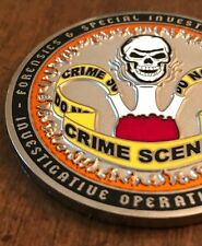 FLETC Forensic Science Investigative Operations Challenge Coin keychain NYPD DSS