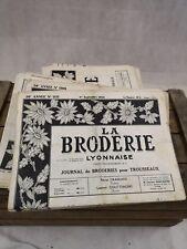 Lot 46 journaux La Broderie Lyonnaise/journal broderie pour trousseaux/vintage