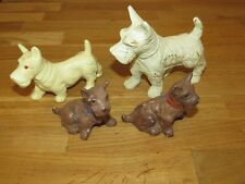 1940's-1950's 4-PC SCOTTY DOGS FIGURINE COLLECTION ~ SEE!