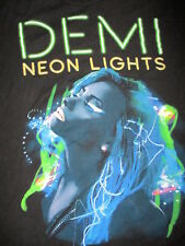 DEMI LOVATO CONCERT T SHIRT Neon Lights 2-Sided 2014 Tour Cities Adult SMALL