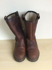 LADIES DR MARTENS ROSA PREMIUM LEATHER FLEECE LINED SAFETY RIGGER BOOTS SIZE 6UK