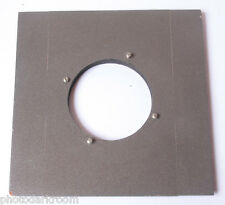 """6"""" Square Wood Lens Board 67mm Unthreaded Opening - Large Format - USED E20A"""