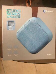 Tzumi Studio Series Speaker Square Mini Waterproof Bluetooth PLAY MUSIC IN STYLE