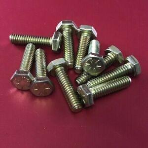 """95362A105 1/4-20 X 1"""" MIL SPEC HIGH STRENGTH STEEL HEX HEAD SCREW (10PCS)"""