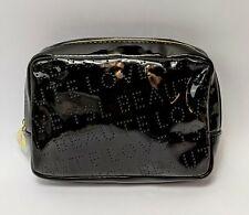 Yves Saint Laurent Black YSL Faux Leather Makeup Case Cosmetic Bag 6.5 x 5 inch