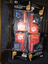 cea4d3d13103 New MINI FOAM finger TOPPERS Clemson Tigers  1 FAN SET by Rico NIP