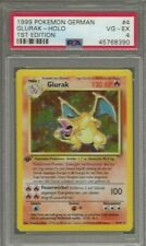 1999 Pokemon German Glurak Charizard 1st Edition Holo 4/102 PSA 4 VG-EX