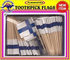 Finland flag Finnish flag toothpicks for cooking cupcakes cocktails & party.
