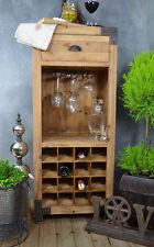 Weinregal Massivholz Glashalter Schrank Flaschenfächer Kiefer Holz Landhaus