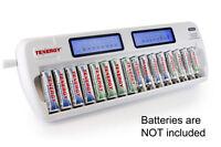 Tenergy TN438 16-Bay AA/AAA NIMH/NICD LCD Intelligent Smart Battery Charger