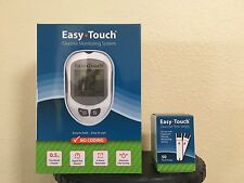 32 Easy Touch Blood Glucose Test Strips Box of 50 CT And 2 Easy Touch Meter KIT