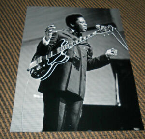 BB King Blues Guitar Live 8x10 Candid Promo Photo #8