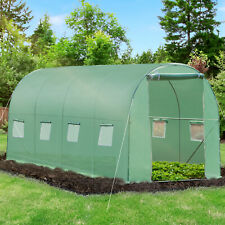 More details for outsunny 4 x 2m polytunnel walk-in garden greenhouse with zip door and windows