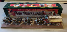 ERTL Budweiser Clydesdale Eight-Horse Hitch Wagon Mechanical Bank B576 with Box