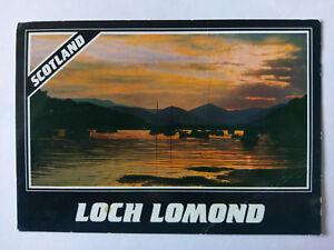 Loch Lomond Vintage colour Postcard 1986