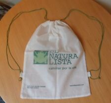 EL NATURA LISTA WHITE DRAWSTRING DUST COVER BAG/SHOULDER SHOPPER BAG