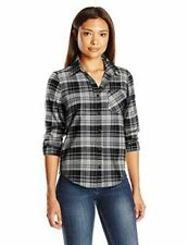 Nwt! Pendleton Women's Black / Ivory Plaid Shirt Size: Xl