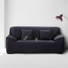 2SEAT Sofa Covers Couch Slipcover Stretch Elastic Fabric Settee Protector Fit UK