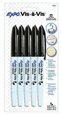EXPO Wet Erase Markers Overhead Projection Vis 5 Black