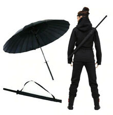 "38"" Inch tall Black Samurai Ninja Katana Umbrella Samurai Swords Umbrella Handle"