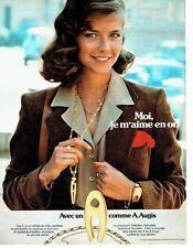 PUBLICITE ADVERTISING 027  1979  les bijoux en Or Augis médaille bracelet
