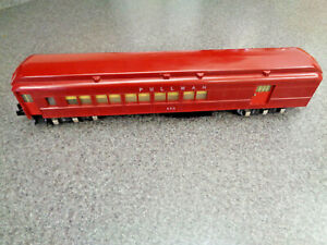 American Flyer S Gauge #653 Red Pullman Combination Passenger Car Excellent Cond