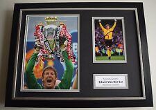 Edwin Van Der Sar SIGNED FRAMED Photo Autograph 16x12 display Manchester United