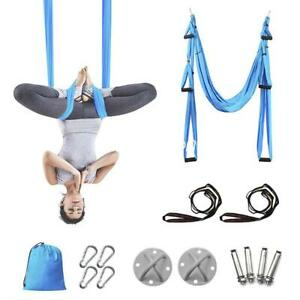 Women Yoga Hammock Swing Sport Aerial Silks Set Trapeze Inversion Fitness Gym