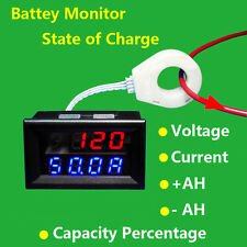 Voltmeter Ammeter Current Sensor 120V50A Voltage Current Capacity Charge Status