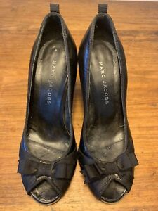 Designer Marc Jacobs Peep Toe Leather Heels 35 1/2 - worn once!