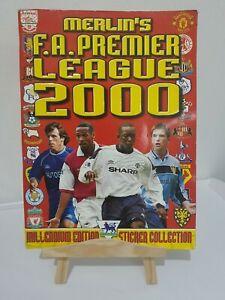 Merlin Premier League 2000 Football Sticker Book including lampard 2nd year