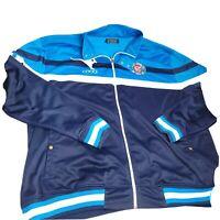 Coogi Australia Kangaroo Track Jacket Men's Size 4XL Blue White Zip Stripe