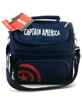 Picnic Time Captain America Pranzo Lunch Tote 6-Piece Set Marvel Comics Blue New