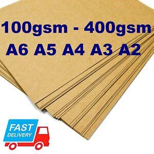 A4 A5 BROWN KRAFT CARD CRAFT GIFT TAG BAG LABEL SHEET PRINTER PAPER A3 A6 300gsm